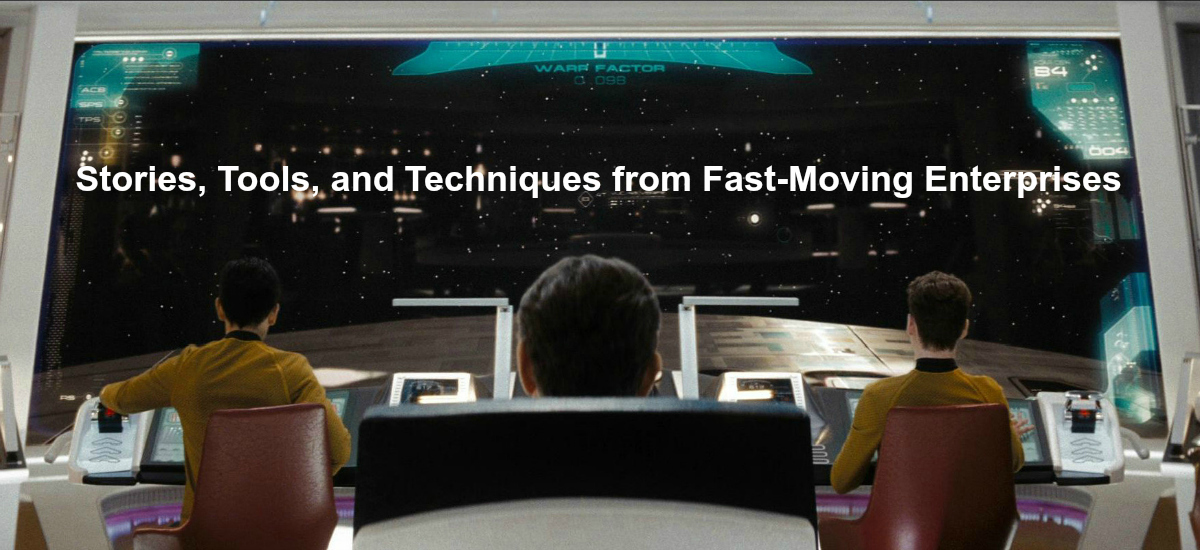 Permalink to: Size And Speed: Stories, Tools and Techniques From Fast-Moving Enterprises