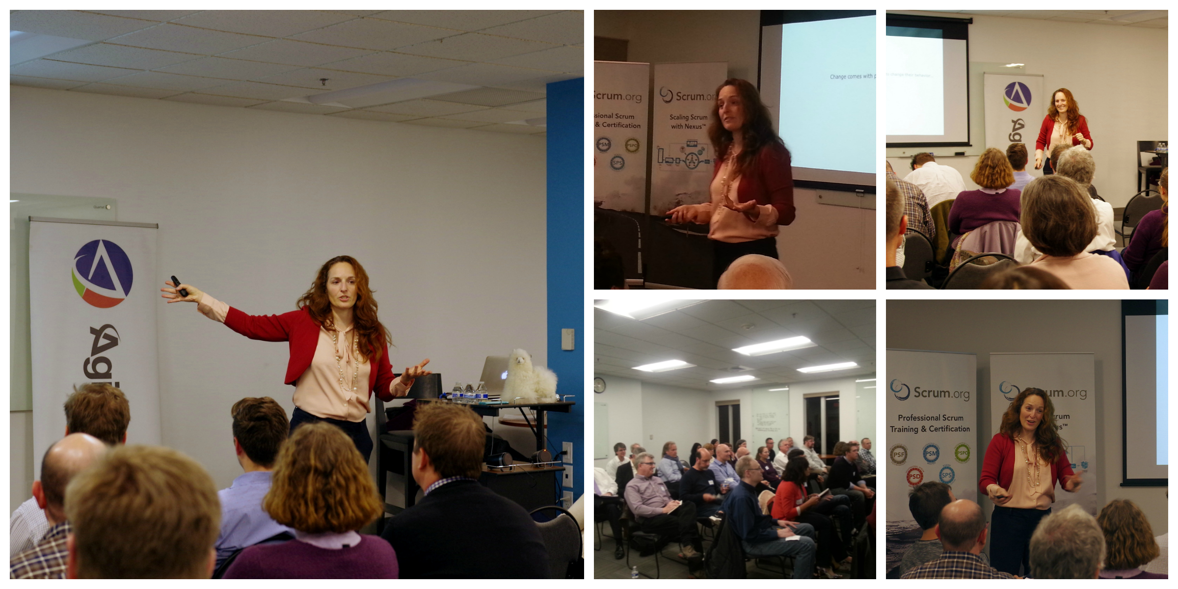 Kara Minotti Becker presents at Agile Boston