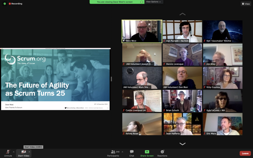 Dave West of Scrum.Org on Scrum at 25, in the COVID era screen shot
